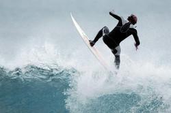 Surfing in La Jolla, CA