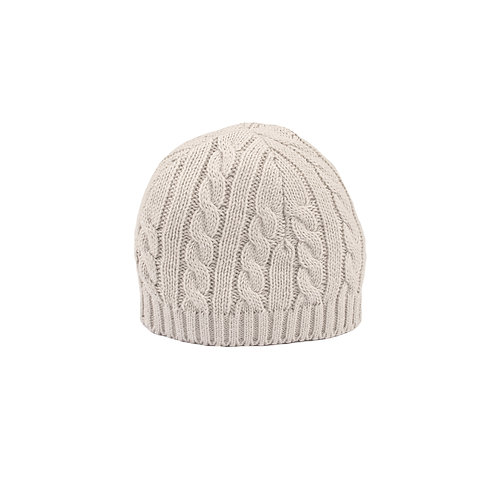 Glacier Grey Cable Baby Hat
