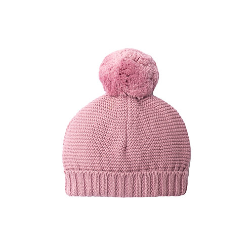 Dawn Pink Big Bobble Baby Hat