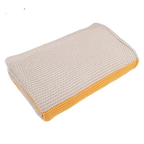 Amber & Arctic Grey Maxi Stripe Baby Blanket