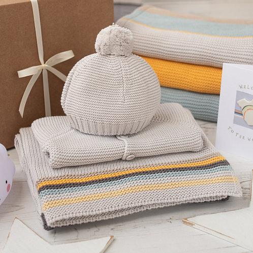 Retro Stripe Baby Knitted Gift Set