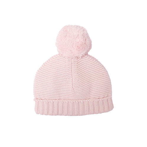 Petal Pink Big Bobble Baby Hat