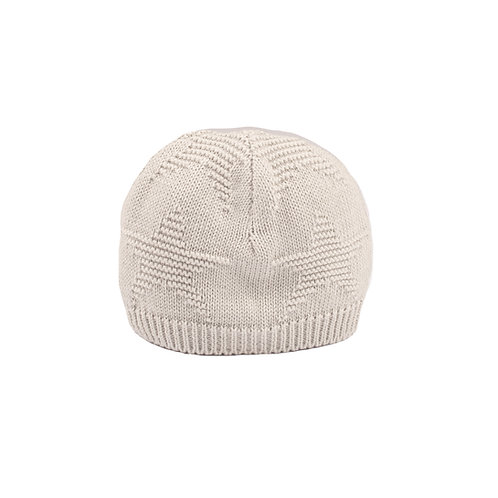 Toffee Moon Glacier Grey Star Baby Hat cut out