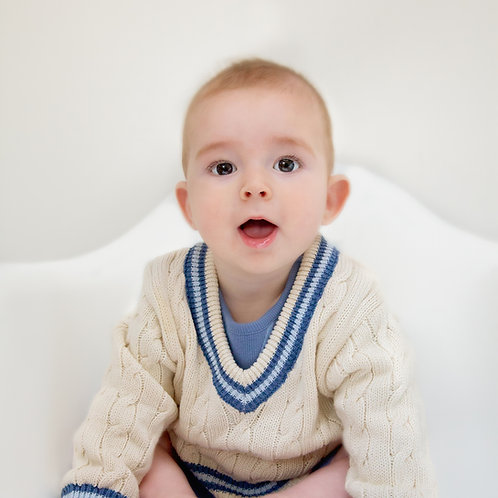 Toffee Moon Cricket Jumper for babies and toddlers
