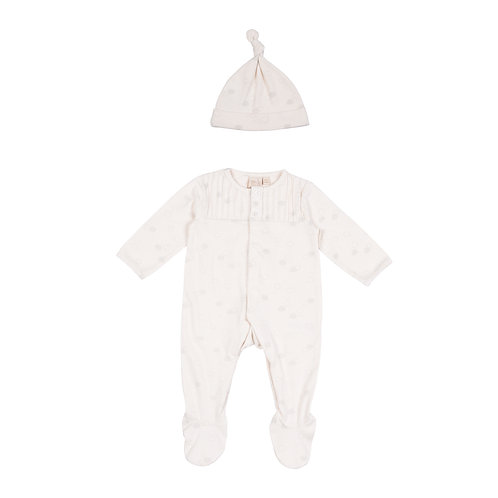 Clouds Babygrow cut out