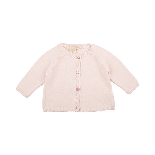 Petal Pink Sparkle Baby Cardigan