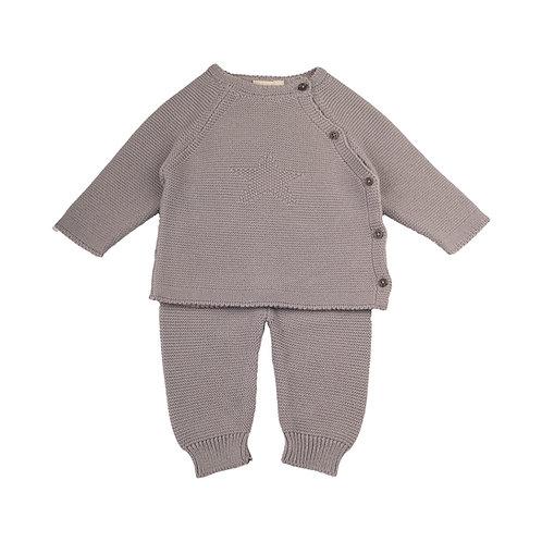 Hound Grey Star Baby Cardigan & Leggings Set