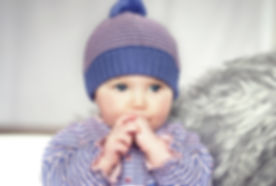Toffee Moon knitted baby hat