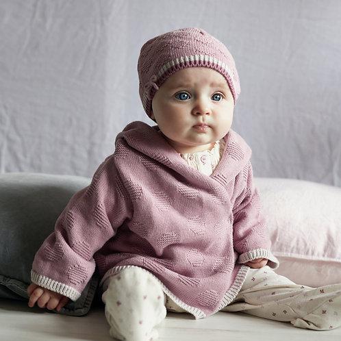 Dawn Pink Hooded Baby Cardigan