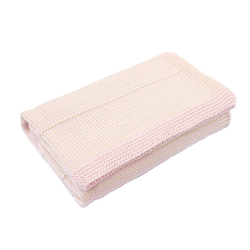 Petal Pink & Cream Dainty Stripe Baby Blanket