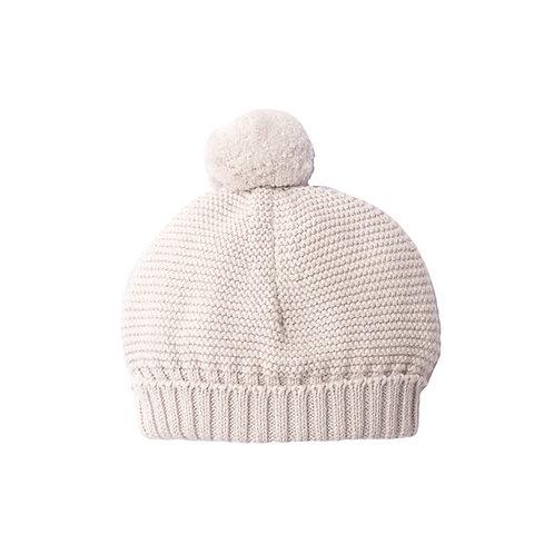 Arctic Grey Bobble Baby Hat