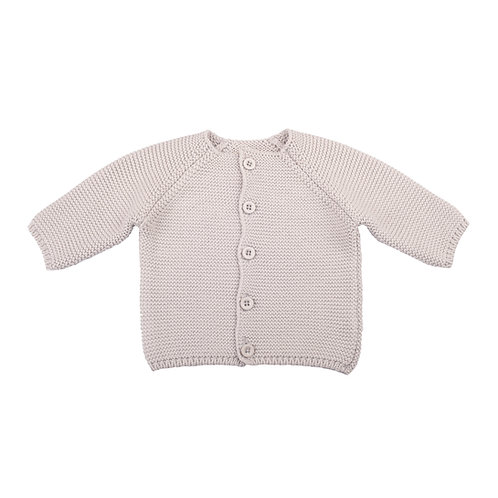 Arctic Grey Bubble Baby Cardigan