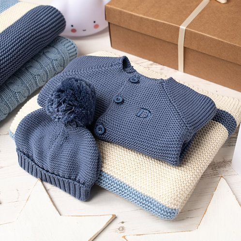 Blue Ribbon Stripe Baby Boy Storm Gift Set
