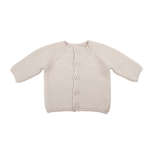 Glacier Grey Bubble Baby Cardigan