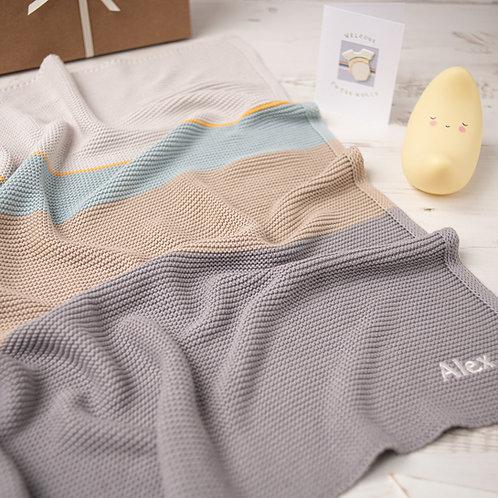 Arty Colour Block Baby Blanket