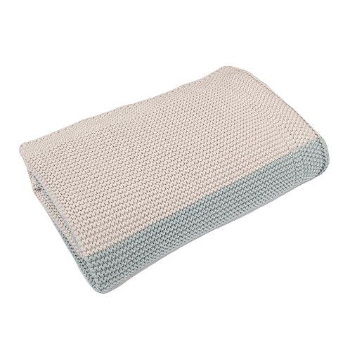 Aqua & Arctic Grey Maxi Stripe  Baby Blanket