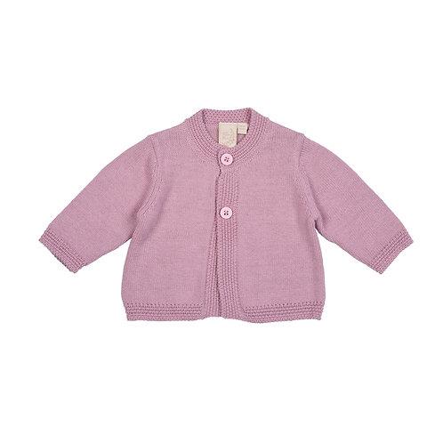 Dawn Pink Moss Baby Cardigan