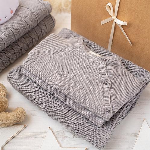 Little Star Hound Grey Knitted Baby Gift Set