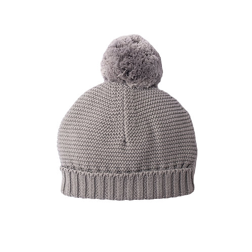 Hound Grey Big Bobble Baby Hat