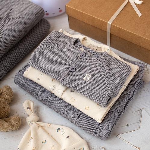 Rainbows Hound Grey Baby Gift Box