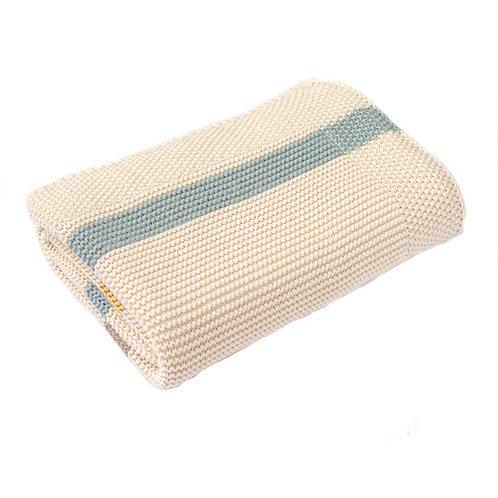 Ribbon Stripe  Baby Blanket