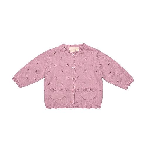 Dawn Pink Pointelle Baby Cardigan