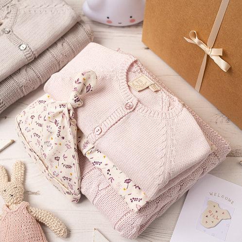 Floral Sprig Baby Girl Luxury Petal Pink Gift Box