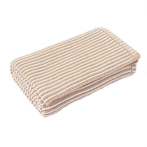 Fudge & Cream Mini Stripe  Baby Blanket