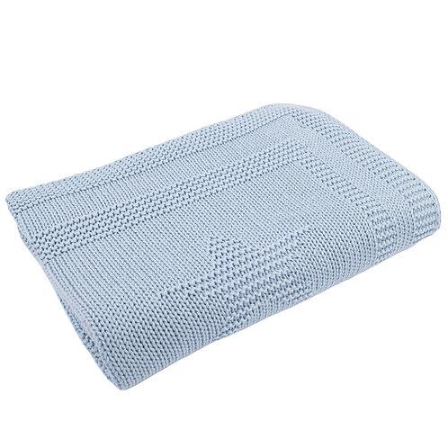 Blue Grey Star Baby Blanket