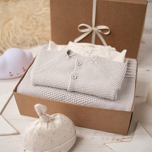Arctic Grey Big  Star Luxury Baby Gift Box
