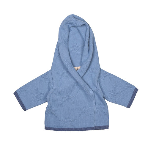 Slate & Storm Hooded Baby Cardigan