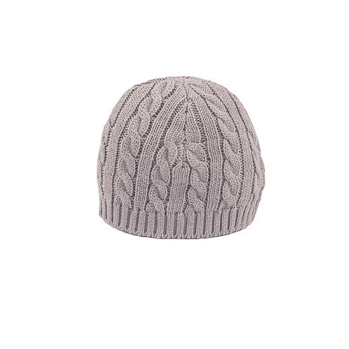 Toffee Moon Hound Grey Cable Baby Hat