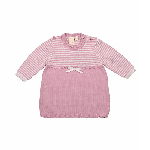 Dawn Pink Knitted Baby Dress