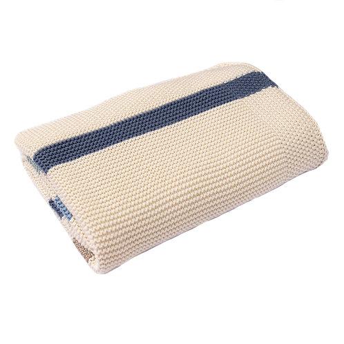 Blue Ribbon Stripe  Baby Blanket
