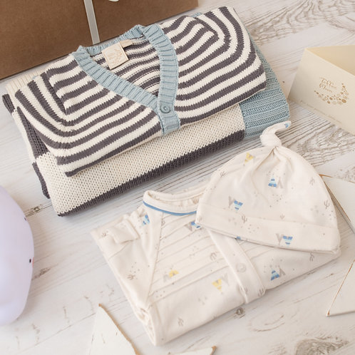 Toffee Moon Mono Stripe Luxury Baby Gift Box