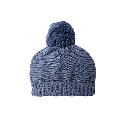 Storm Blue Big Bobble Baby Hat