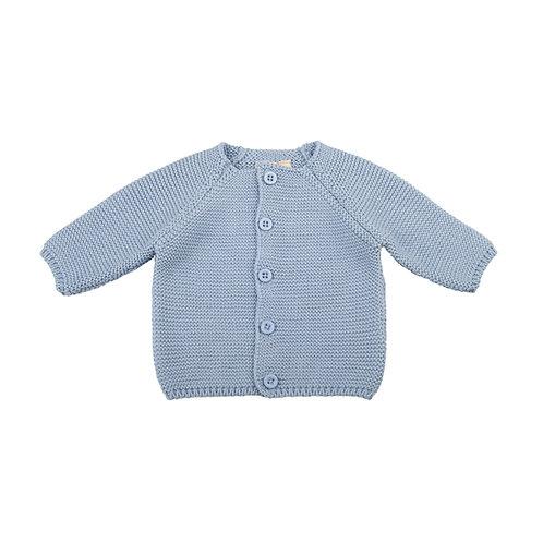 Blue Grey Bubble Baby Cardigan