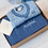 Toffee Moon Blue Personalised Baby Cricket Jumper and Personalised Baby Blanket Gift Set
