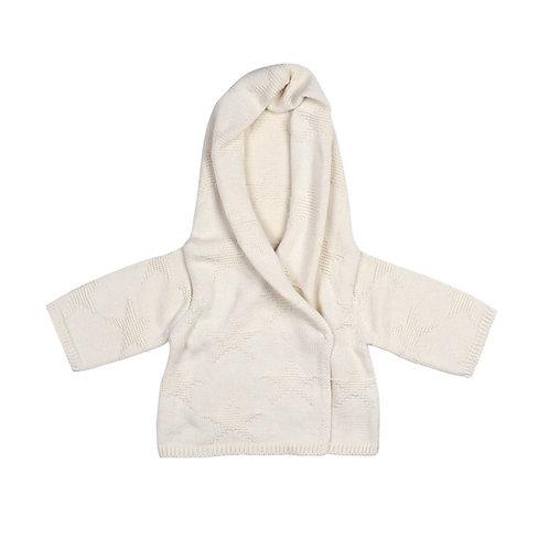 Cream Star Baby Hooded Cardigan