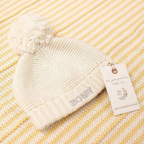 Personalised Big Bobble Baby Hat