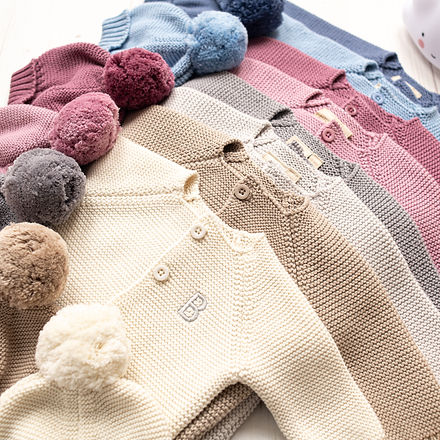 Toffee Moon Cosy Hat and Cute Bubble Baby Cardigan with embroidered name colour range-4.jp