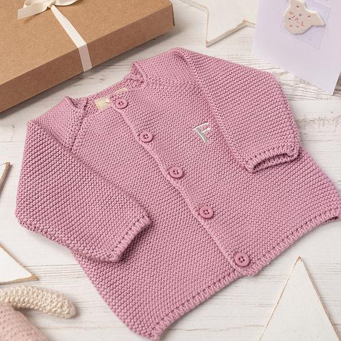 Dawn Pink Bubble Baby Cardigan