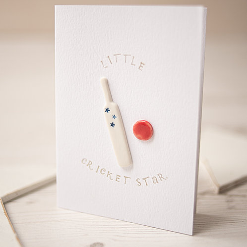 Little Cricket Star Handmade Ceramic Gift Card