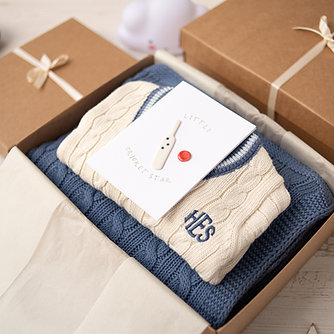 Little Cricket Champion Blue Baby Gift Box
