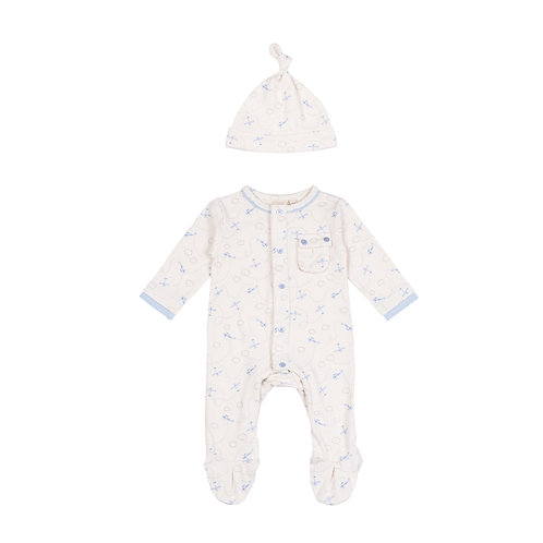 Toffee Moon Little Planes Babygrow cutout