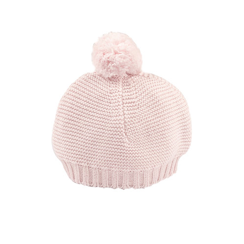Toffee Moon Petal Pink Bobble Baby Hat cut out