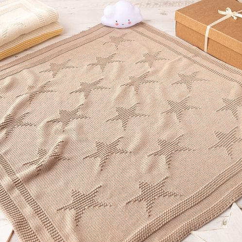 Toffee Moon Fudge Little Star Personalised Baby Blanket