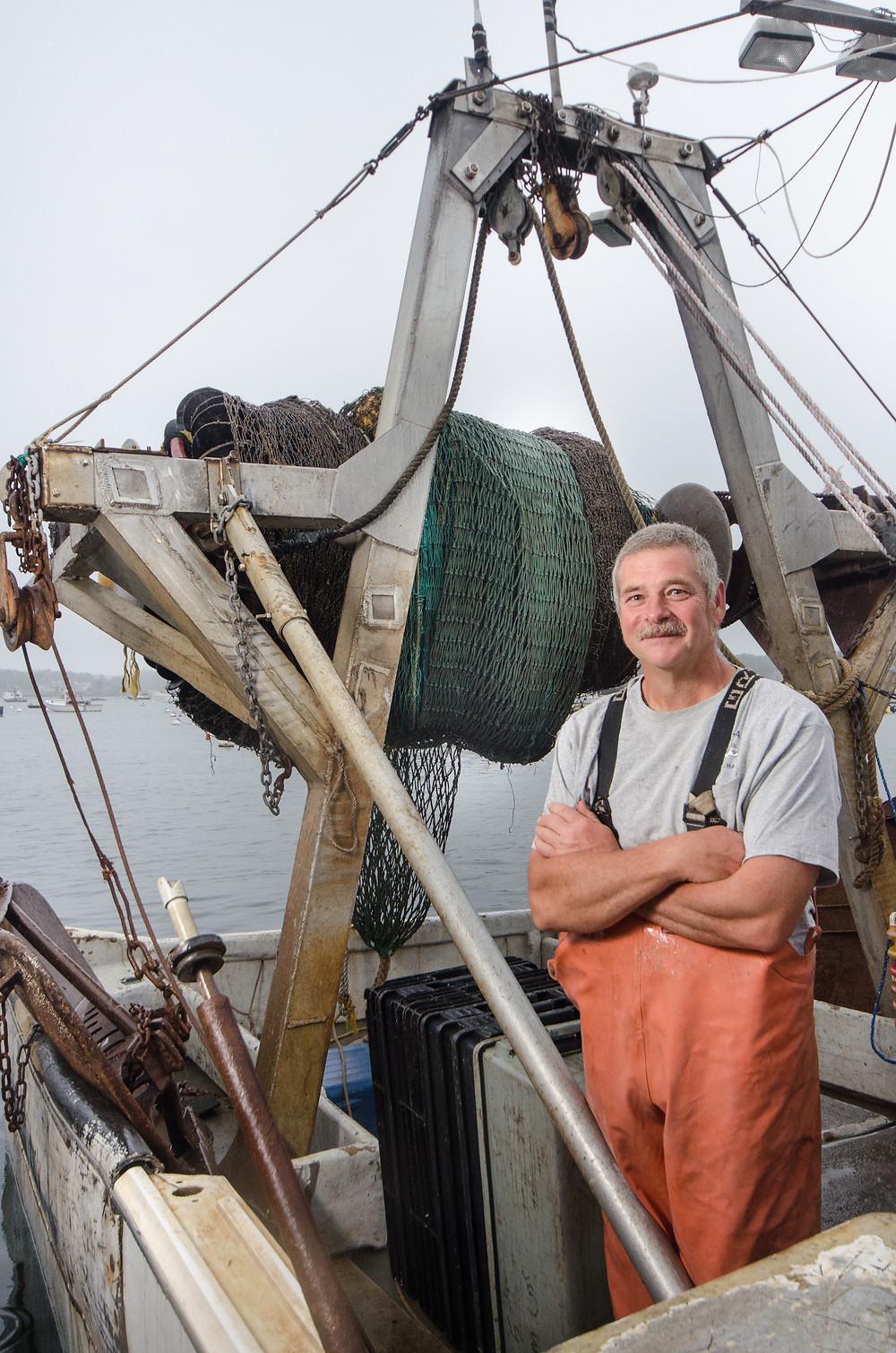 Kelo Pinkham, fisherman, innovator, researcher.