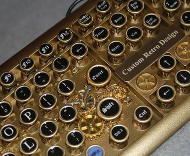 steampunk art, keyboard