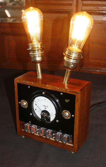nixie clock steampunk